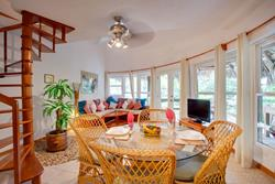 Dining and Living Rooms, Loft Suite, Xanadu Island Resort, Ambergris Caye, Belize