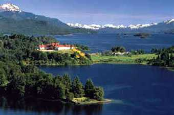 Hotel Llao Llao, Llao Llao Peninsula, Bariloche and Lake Nahuel Huapi as seen en route to Mount Lopez.