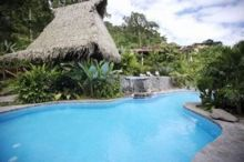 Free form swimming pool, Lost Iguana Resort Hotel, Arenal, Costa Rica