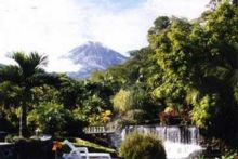 View of Arenal Volcano from fabulous Tabacon Hot Springs Resort & Spa, Costa Rica
