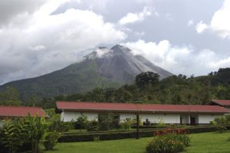 All rooms have direct views of Arenal Volcano, Volcano Lodge Hotel, La Fortuna, Costa Rica