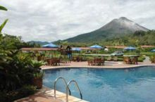 Swimming Pool with view of Arenal Volcano, Volcano Lodge Hotel, La Fortuna, Costa Rica
